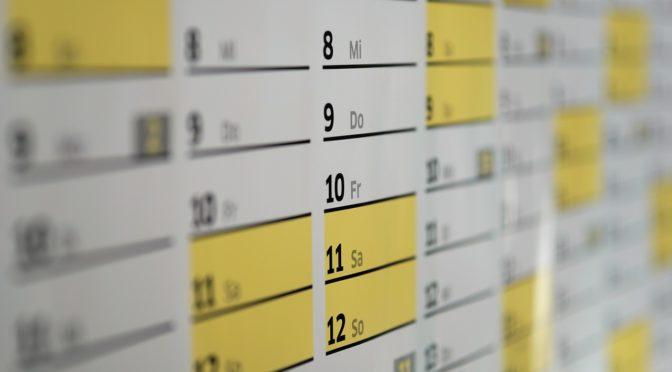 Calendrier des instances  2018 -2019