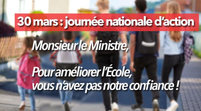 Samedi 30 mars 2019 à Caen : Toutes et tous à la marche pour l'éducation !