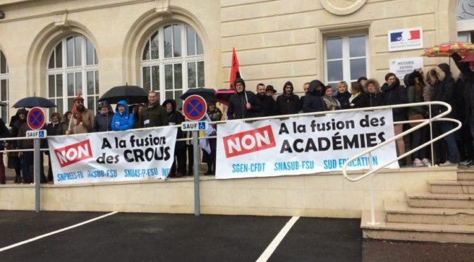 Toujours NON à la fusion des académies !