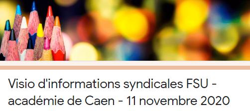#BalanceTonProtocole : Visio d'informations syndicales FSU le mercredi 11 novembre 2020 à 10h00