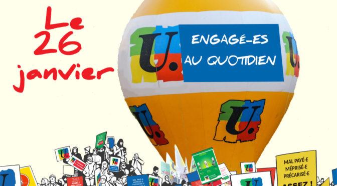 26 janvier 2021 : grève et manifestation dans l'Educationnationale